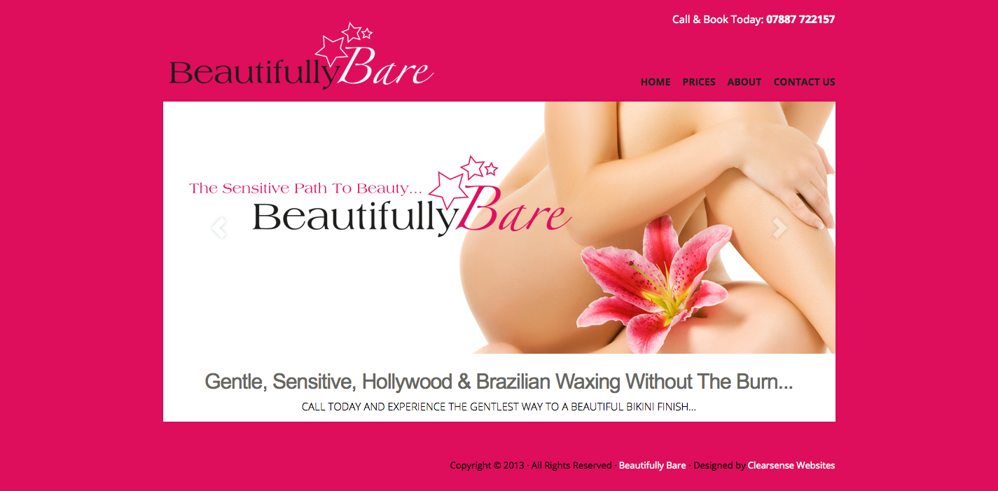 Beautifully Bare Bikini Waxing Hair Removal Website