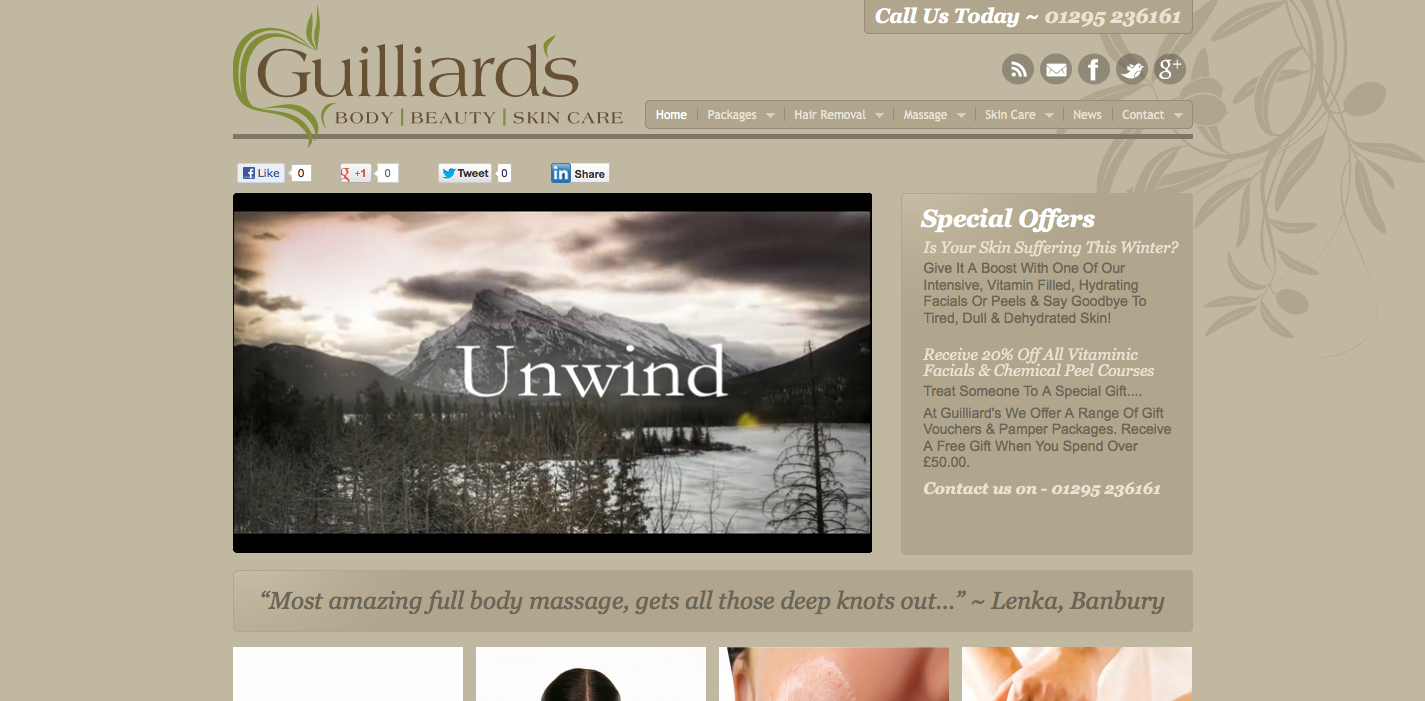 guilliards_beauty_therapist_waxing_massage_therapy_website