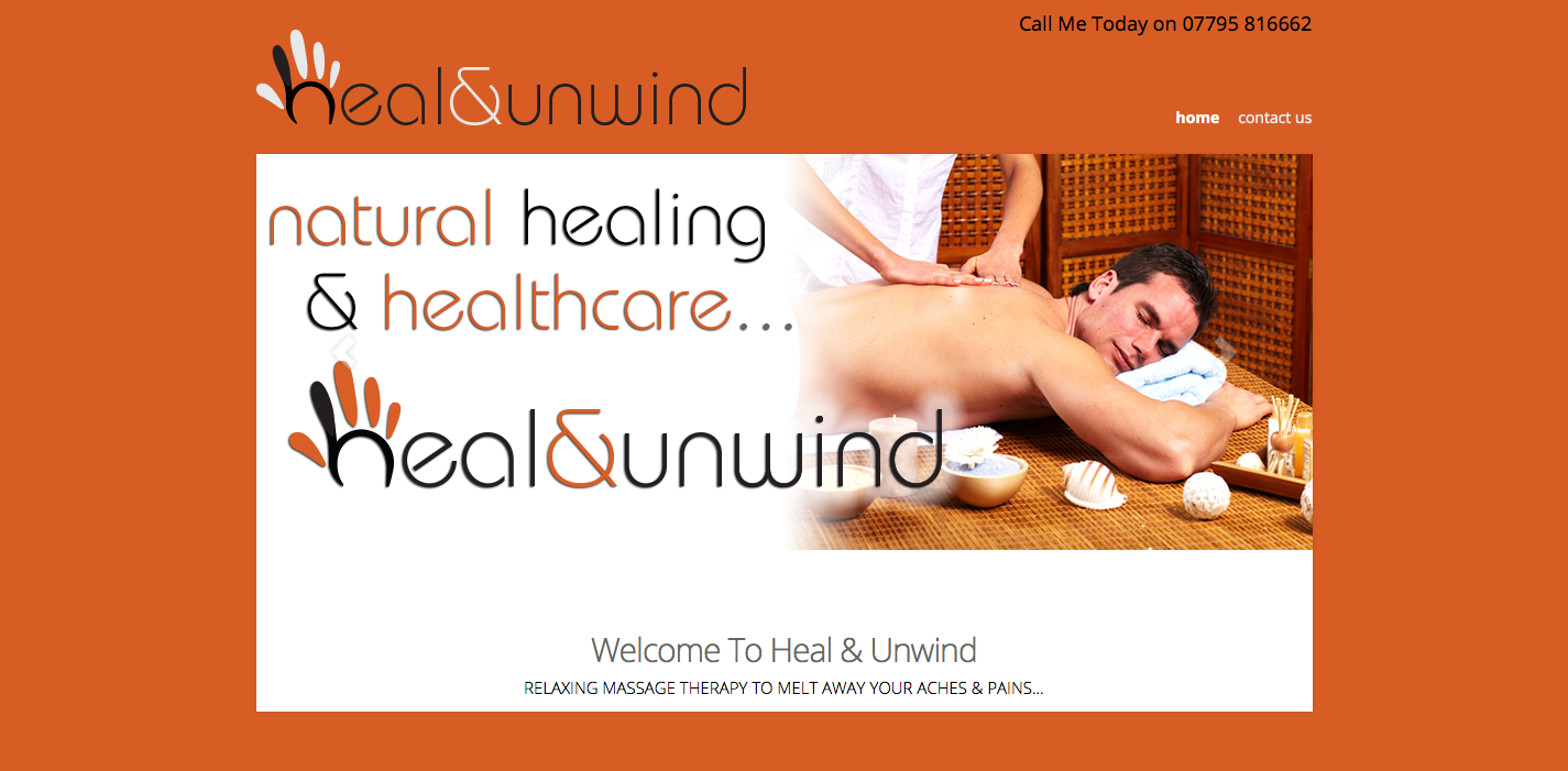 Heal & Unwind Massage Sports Therapy Website