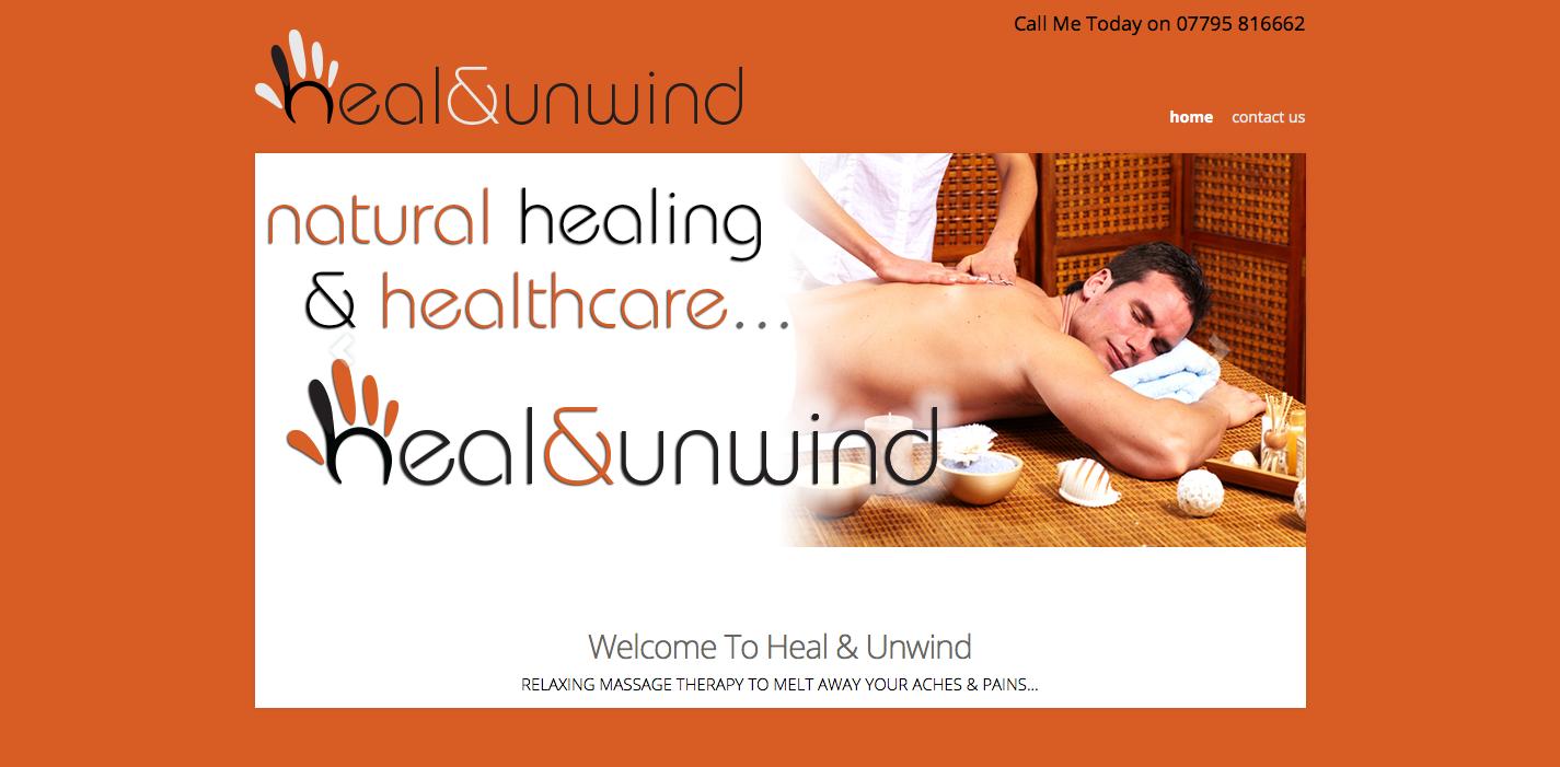 Heal & Unwind Massage Sports Therapy Website