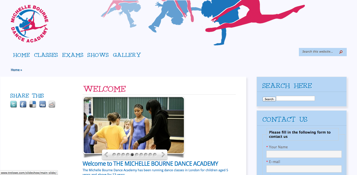 Michelle Bourne Dance Academy School Website