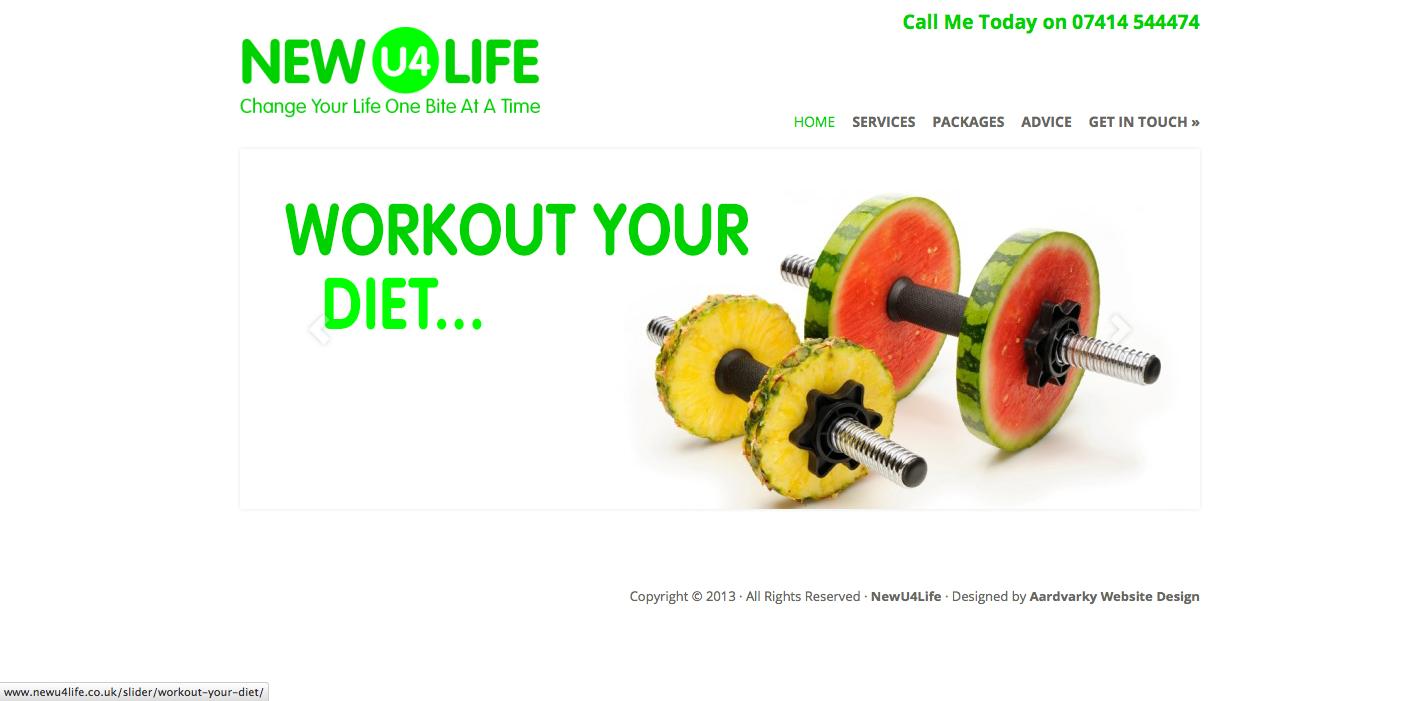NewU4Life Nutrition Advice Diet Weightloss Website
