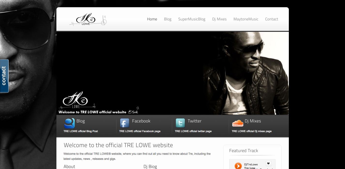 Tre Lowe Musician Dj Website