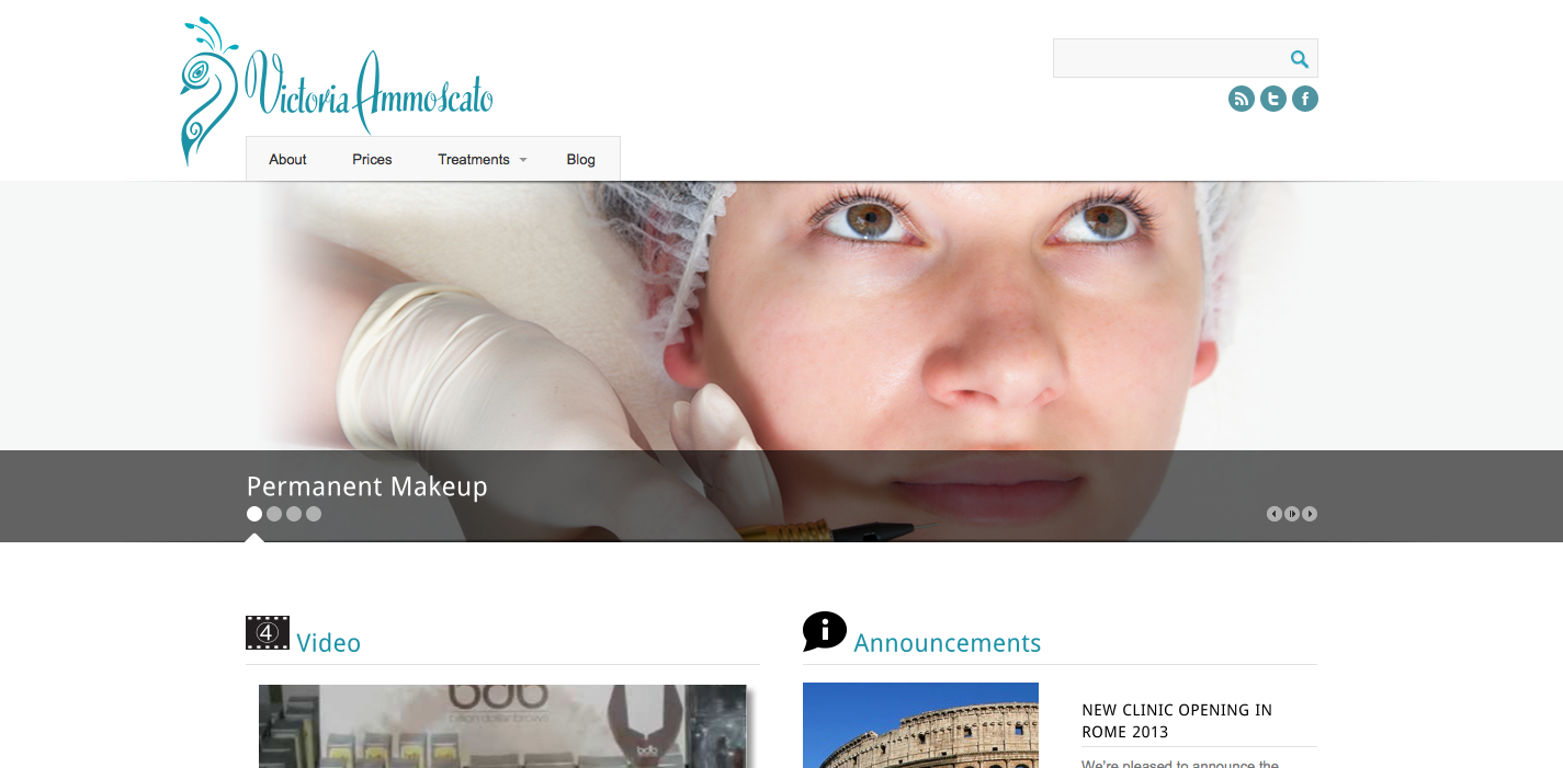 Victoria Ammoscato Permanent Makeup Website