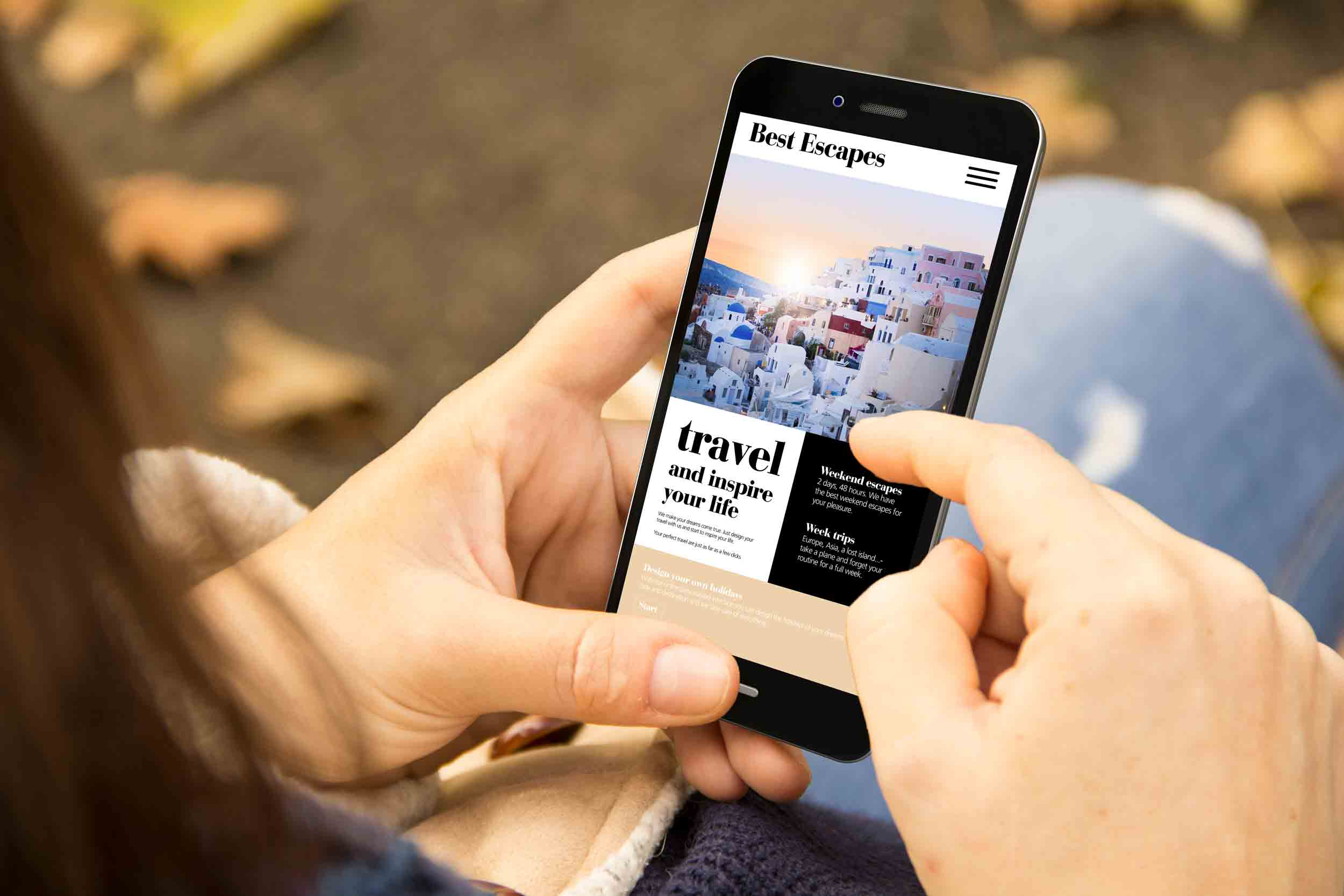 Responsive and fluid website design on a smart phone